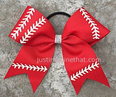 2.25 x 6 x 6 Softball Sports Bow with your by JustImagineThatBows