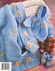 Crochet Dress Patterns For Girls   Baby Rings Layette Crochet Patterns Annies Attic Boy Girl Afghan Dress ...