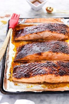 Maple-Crusted Salmon ~ http://foodiecrush.com