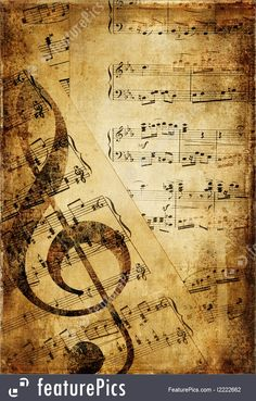 Vinage Grunge Art: Rusty musical pages