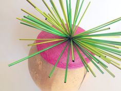 Sparkling Astro Sinamay Fascinator In Hot Pink And by ChefBizzaro, $40.00
