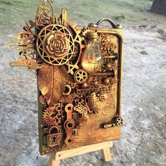 Servus and hi, dear steampunk craftin' friends! You're right on time to find out about our Top 5 and prize winners from the October challe. Mixed Media Canvas, Mixed Media Art, Canvas Collage, Canvas Paintings, Steampunk Cards, Altered Canvas, Metal Tools, Mini Canvas, Have Some Fun