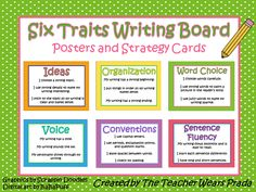 6 Traits of Writing Posters | Have you used the 6 Traits program in your classroom? What resources ...