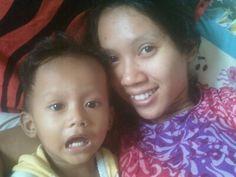 mom and me...