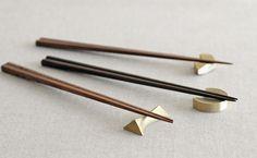 Brass chopstick rest by Futagami