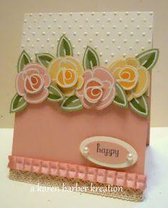 From Karen Barber.  Check out her blog    Flower Fest SU stamps http://www.karenbarberstamps.blogspot.com/