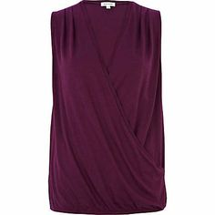Dark purple drape front tank top - plain t-shirts / vests - t shirts / vests / sweats - women Autumn Colours, T Shirt Vest, Dark Purple, Vests, Fashion Outfits, Tank Tops, Clothing, How To Wear, Shirts