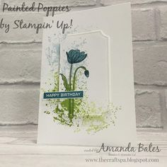 The Craft Spa - Stampin' Up! UK independent demonstrator - Order Stampin Up in U. - The Craft Spa – Stampin' Up! UK independent demonstrator – Order Stampin Up in UK: Painted Poppies Splatter Notecards Trio Step by Step Pictorial Tarjetas Stampin Up, Poppy Cards, Fleurs Diy, Masculine Birthday Cards, Fun Fold Cards, Stamping Up Cards, Diy Birthday, Flower Cards, Handmade Crafts