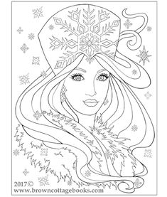 The Mythical Maidens Coloring Book by Annie Brown. An adult coloring book featuring fun and fantastical portrait images of snow queens, fairies, mermaids, and maidens. A fantasy coloring book, suitable for all ages and artistic levels. Visit our website for more coloring fun!