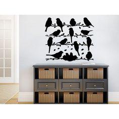 Bird On Branch Childrens Decor Kids Vinyl Nursery Baby Room Bedroom Sticker Decal size 22x22 Color