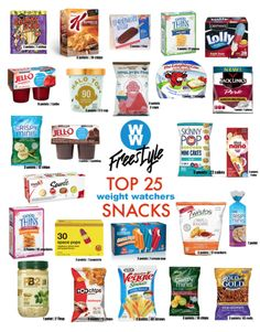 Diet Snacks Top 25 Snacks Under 3 Weight Watchers Points - 25 of the Best Low Point Weight Watchers Snacks under 3 points. Try these Weight Watchers Freestyle snack ideas available in Canada. Weight Watcher Desserts, Weight Watchers Snacks, Weight Watchers Tipps, Weight Watchers Meal Plans, Weigh Watchers, Weight Watchers Smart Points, Weight Watchers Program, Weight Watchers Motivation, Jars