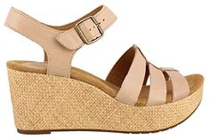 Clarks Womens Caslynn Harp Sand Leather Sandal 12 B M * Learn more by visiting the image link.