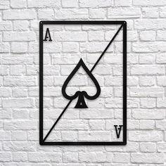 Ace of Spades #metal #wallart #decoration #decor #homedecor #home #idea #gift #shopping #metalart #wallhanging #walldecor #interior #steel #decorations #interiors #pinterest #raayt #sign #wallsign #diy #homedecorationidea #ideas #product #feather #feathers #geometric #geometry #minimal #minimalist #office #spade #ace #aceofspades #poker