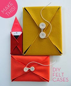 Felt Phone, Laptop and Tablet Cases | 28 Adorable DIY GadgetCases