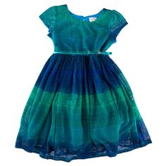 Sweet Heart Rose Girls 2-6X Ombre Lace Dress with Belt