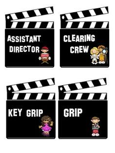 These Hollywood and Movie themed cards are perfect for your classroom jobs.  All of the jobs are on a clapboard.  Also included are 4 blank cards t...
