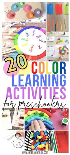 20 Color Learning Activities for Preschoolers #colorlearningactivitiesfortoddlers #colorlearningactivitiesforpreschoolers #colorlearningactivities