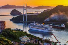夕焼けの出港 | Nagasaki365 - 長崎の今を写真でお届けします。