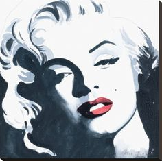 Marilyn Monroe II Stretched Canvas Print Artist: Irene Celic | This image first pinned to Marilyn Monroe Art board, here: http://pinterest.com/fairbanksgrafix/marilyn-monroe-art/ || #Art #MarilynMonroe