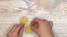 Hvordan lage påskekyllinger med gaffel og garn - Kreative Idéer Threading