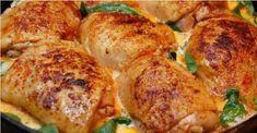 Labužnické kuře: Nejchutnější tip, jak připravit kuřecí stehna. S brambory se upečou na jednom plechu! | - Part 2 Turkey, Meat, Chicken, Cooking, Pdf, Fabric, Kitchen, Tejido, Tela