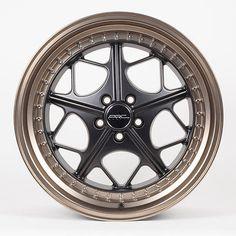 "18x8.5"" ARC Wheels AR2 Black Bronze Lip 5x100 30 For Matrix Celica Camry Rims"