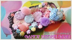 MacaroonsOreo CookiePom PomCandy Decoden Kawaii by emicocosweet Candy Phone Cases, Decoden Phone Case, Oreo, Iphone 6, Kawaii, My Etsy Shop, Apple, Handmade Gifts, Crafts
