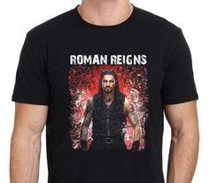 2017 New Creative Roman Reigns Pro Wrestling Design Men's 100% Cotton Tee Shirts High Quality O-Neck Short Sleeve Tee