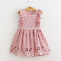Georgia Eyelet Ruffle Dress