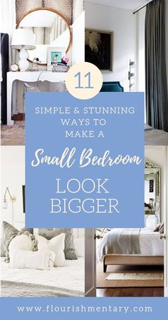 It's no secret that small bedrooms can be tricky to decorate. These simple and stylish ideas to make a small bedroom look bigger will help you make the most of your visual space in even the closest quarters. This list of small space hacks are easy to inc Small Master Bedroom, Master Bedroom Design, Home Decor Bedroom, Modern Bedroom, Small Bedrooms, Bedroom Ideas, Bedroom Plants, Contemporary Bedroom, Master Bedrooms