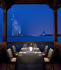 Restaurants with the Best Views: This over-water restaurant specializes, unsurprisingly, in seafood. What is surprising? Where it all comes from: There's butter-poached lobster from Canada, organic Irish salmon confit, and imported Tsarskaya oysters. (Courtesy Pierchic)