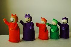 Little monster peg dolls