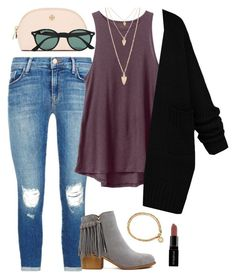 """""""shopping in Cali"""" by sey-preppy ❤ liked on Polyvore featuring J Brand, RVCA, Astley Clarke, Forever 21, Tory Burch, Smashbox, Ray-Ban, women's clothing, women and female"""