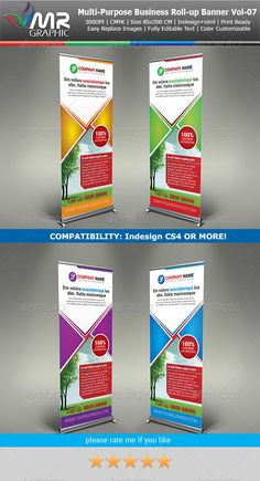 Multipurpose Business RollUp Banner Vol07 — InDesign INDD #big banner #roll-up banner • Available here → https://graphicriver.net/item/multipurpose-business-rollup-banner-vol07/6055423?ref=pxcr