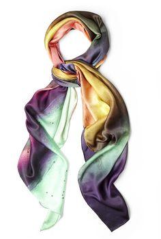 silk scarves | Weston | Mexican Smokey Fluorite Silk Scarf by Weston Scarves