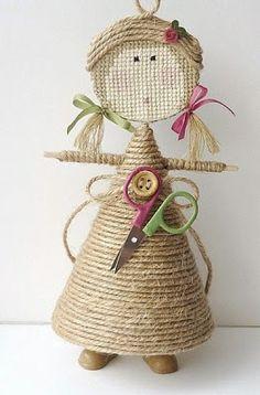 Como hacer una muñequita de yute | Solountip.com
