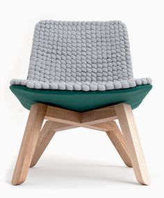 Lou, a Sustainable Lounge Chair made of Merino Wool by Famos