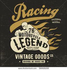 vintage racer print design