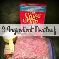 3 Ingredient Meat-Loaf