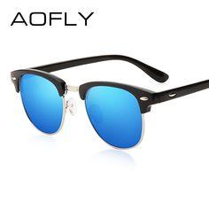 1b639642a3 SDJ Aofly Classic Half Metal Sunglasses for Men or Women - Polarized