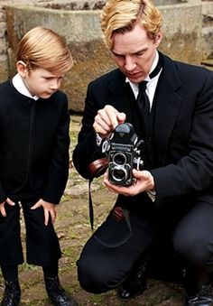 """Scene from """"Parade's End.""""   Benedict has said many times that he would love to be a father.  This young lad looks like him, doesn't he?"""