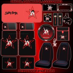 Betty Boop High Heels Details About 19pc Star Floor Mats Seat Covers Steering