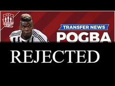Manchester United's first official bid for Paul Pogba rejected by Juvent. Uk Football, Football Players, Paul Pogba, Transfer News, Manchester United, The Unit, Youtube, Soccer Players, Man United