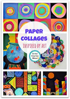 70+ Simple Paper collages Youll love to make now + paper collages inspired by art  + Pasting activities Paper Crafts