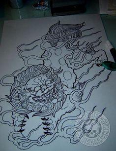 guardian lion foo dog art