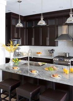 Jane Lockhart, Kitchen Dark Cabinetry - transitional - kitchen - toronto - Jane Lockhart Interior Design