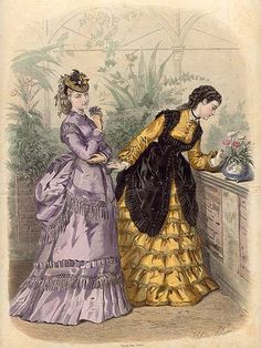 La Mode Illustrée 1873 looks as though pinafores are either worn over outwear, or over blouses, but not sure if you would wear only that and a blouse outside in company