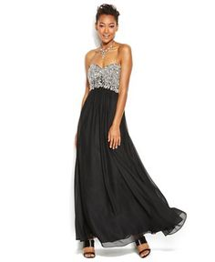 Decode Strapless Embellished Sweetheart Gown - Juniors Shop All Prom Dresses - Macy's