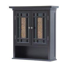 Bathroom Wall Cabinet Storage Mount Organizer Wood Cupboard Furniture W/ Shelf #BathroomCabinet #Contemporary