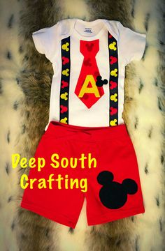mickey mouse first birthday smash cake outfit by Deepsouthcrafting